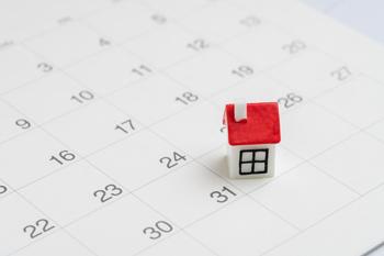 maison sur calendrier